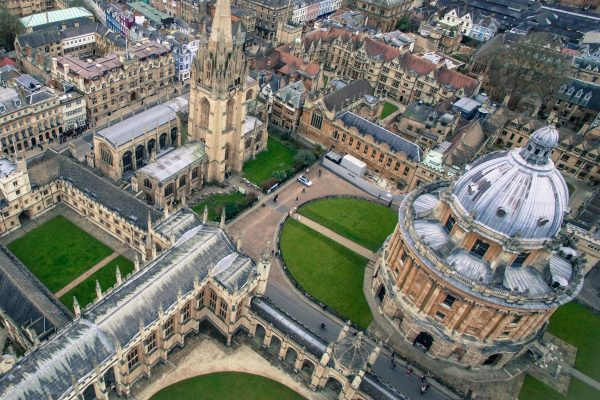 Oxford University van bovenaf